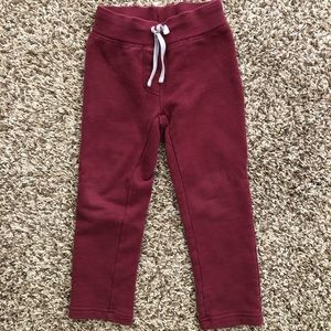 Hanna Andersson burgundy embroidered pant size 100